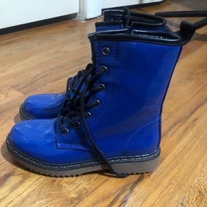 Blueberry Combat Boots